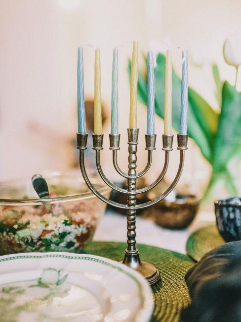 candelabro a tavola