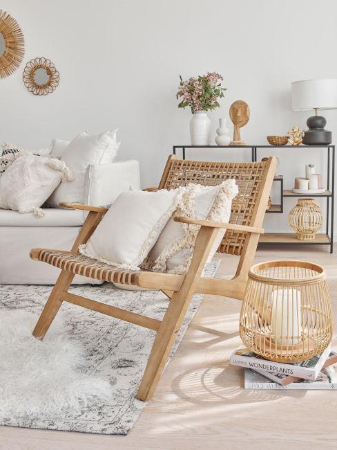 sedia in legno per soggiorno nordico