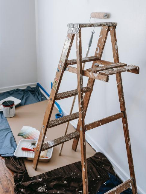 scaletta per pitturare in casa