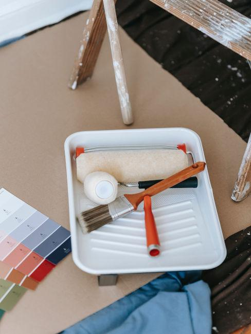 strumenti per pitturare pareti casa