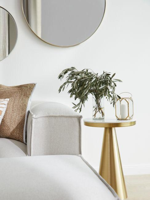 tavolino da soggiorno dorato