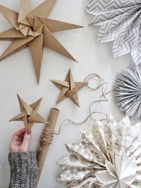 Decorazioni origami per albero di Natale