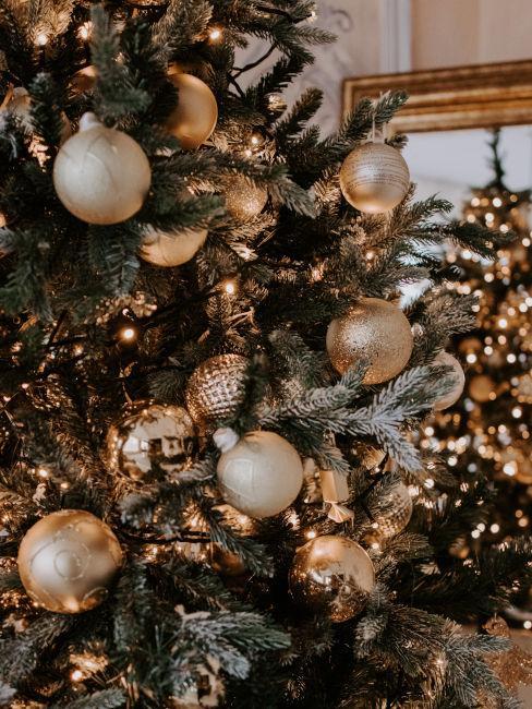 decorazioni bianco e oro