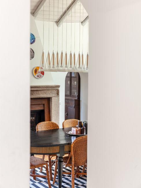 Sala da pranzo vintage moderna