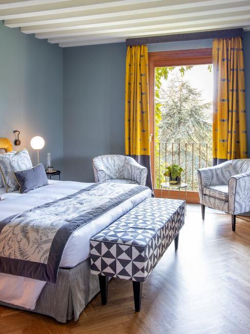 Camera da letto glam