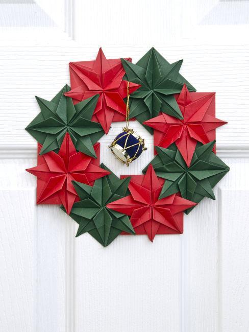 Ghirlanda natalizia origami