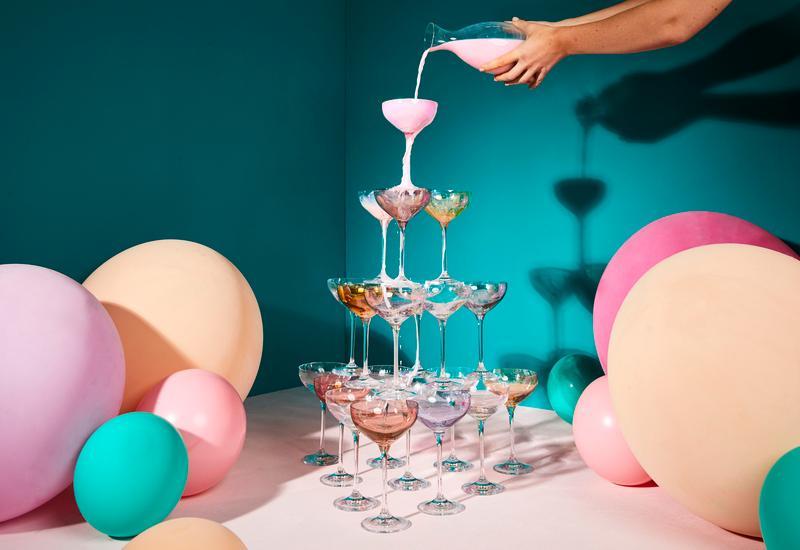 champagne toren zelf bouwen