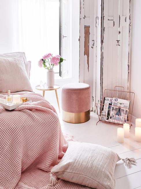 Beter slapen: een slaapkamer in roze