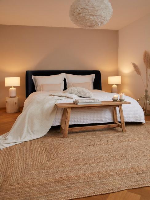 feng shui slaapkamer in natuurlijke kleuren