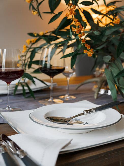 chalet chic tafel dekken
