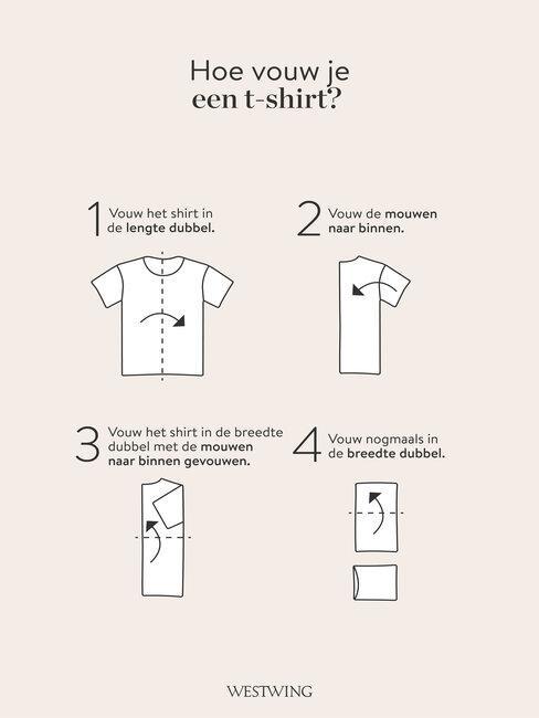 hoe vouw je een t-shirt?
