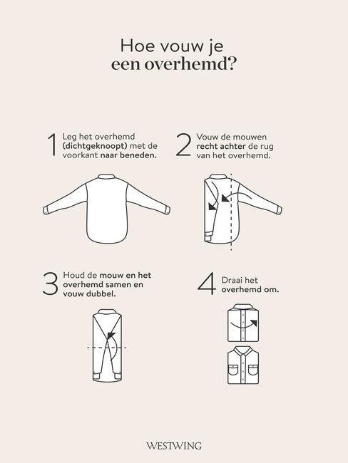 hoe vouw je een overhemd?