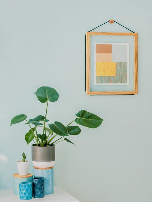 art deco stijl met plant op bijzettafel