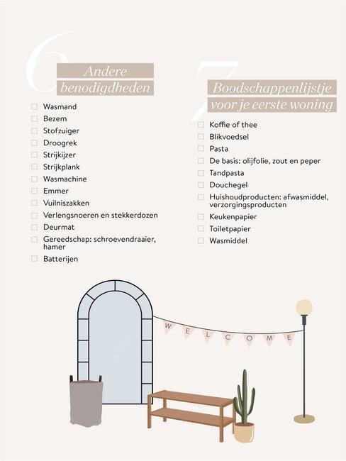 checklist voor je eerste woning