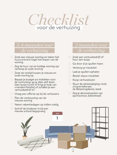 checklist voor het verhuizen