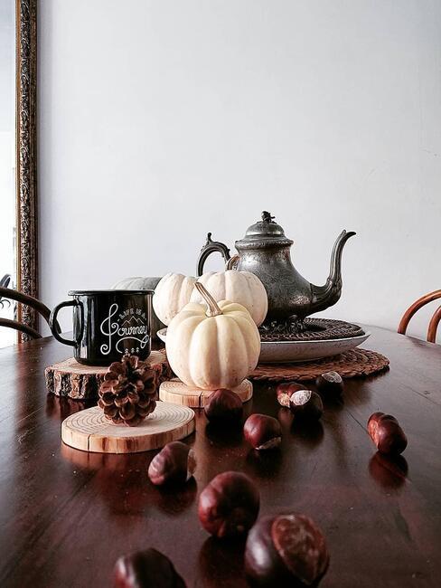 Kastanjes en pompoenen