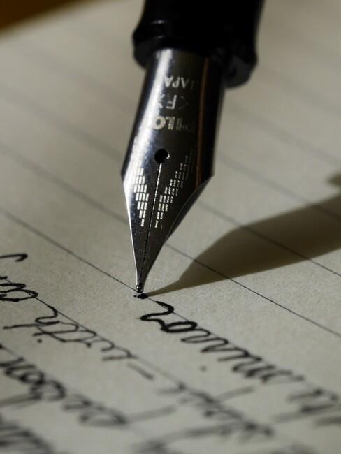inkt pen die schrijft