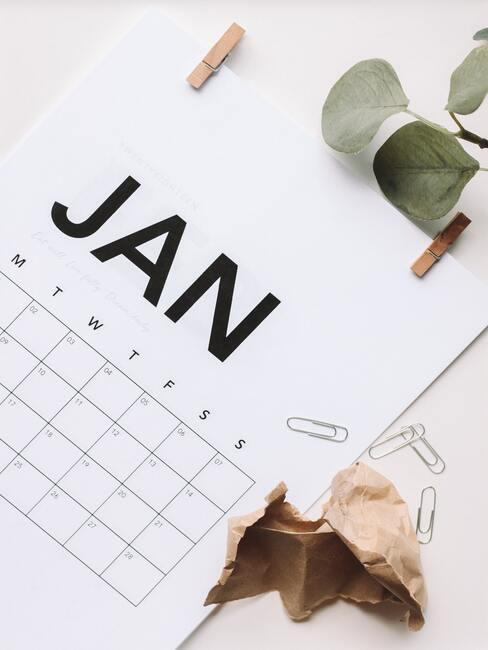 kalender in een minimalistische stijl