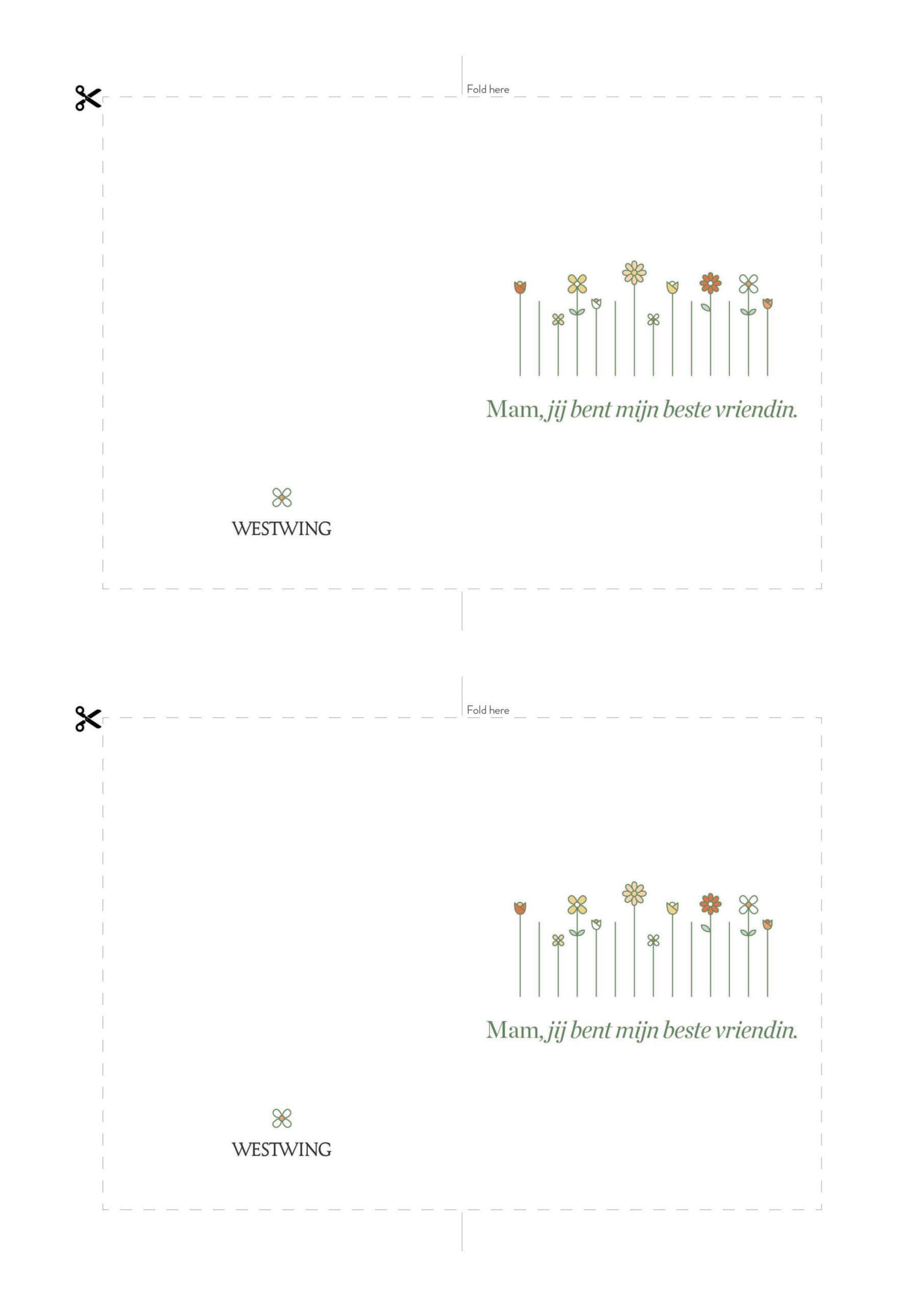 DIY moederdagkaart Westwing