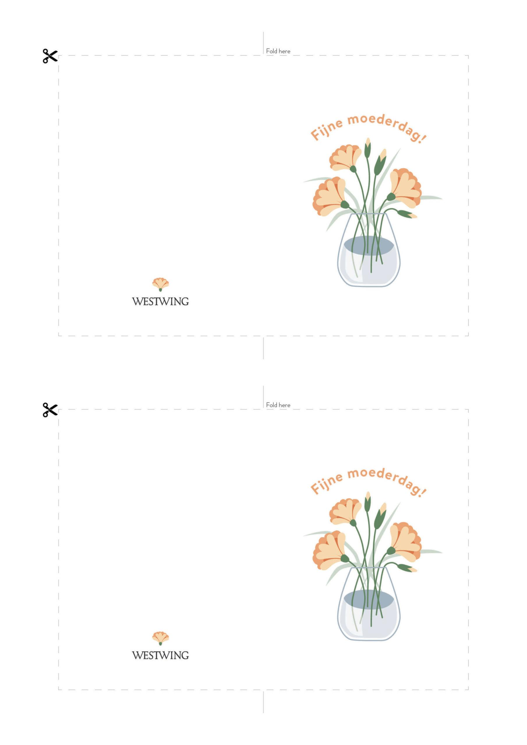 moederdag kaart Westwing