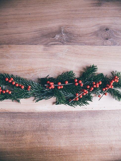 Kersttak op tafel