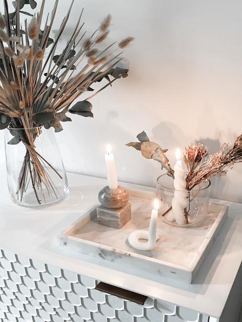 gedraaide kaarsen