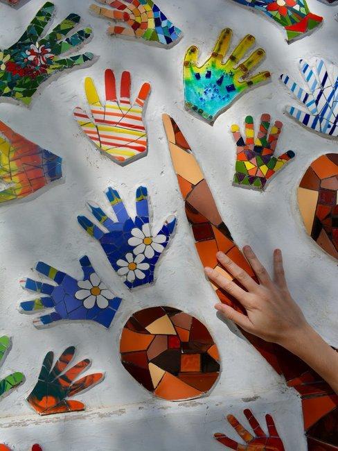 Creatief geschilderde handjes