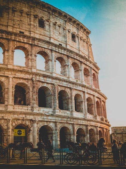 Huwelijksaanzoek bij het Colosseum Rome