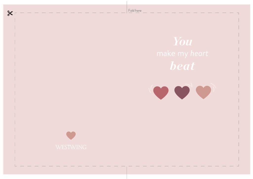 Valentijnskaart om uit te printen