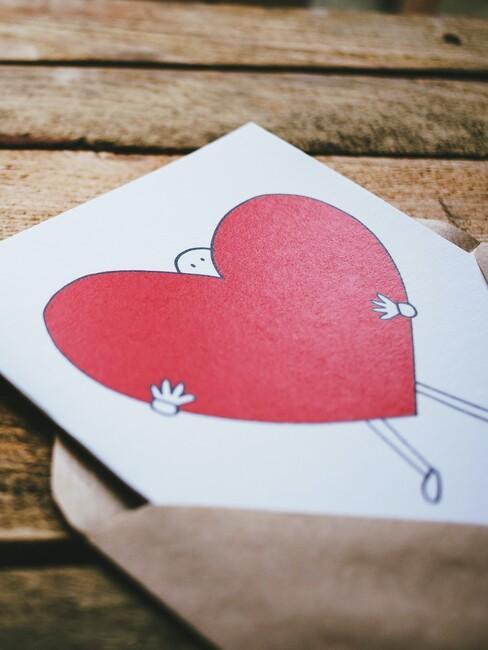 Originele zelfgemaakte Valentijnskaart