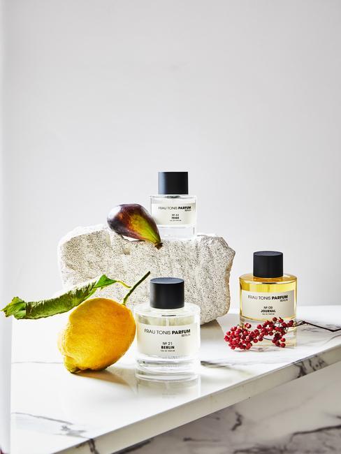 Aromatherapie met geuren en citroenen