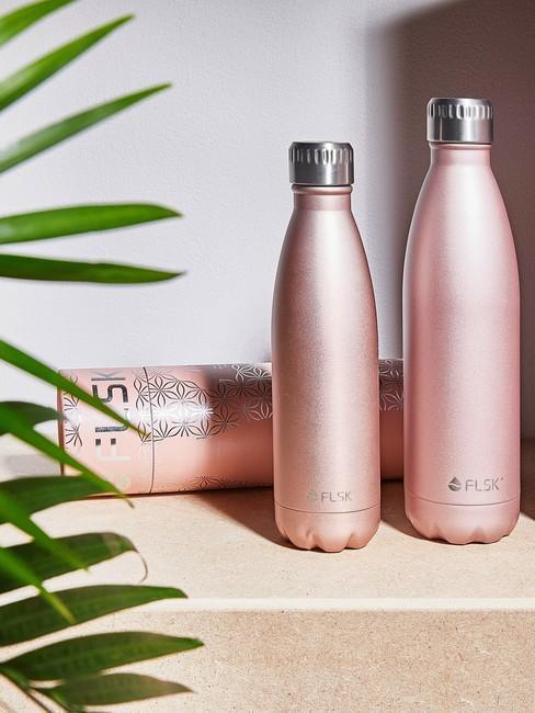 roze herbruikbare flessen voor een Leven Zonder Afval