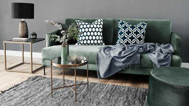 Smaragdgroen interieur