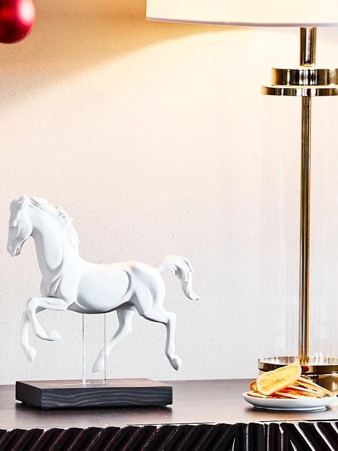Alabaster paarden beeld