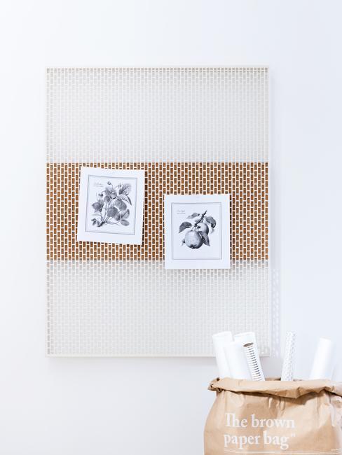 Clean Desk met een hangopbergbord