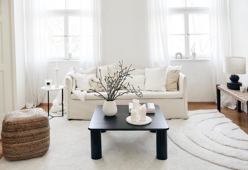 Zwart witte woonkamer