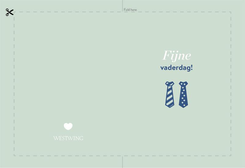 Westwing vaderdagkaart: fijne vaderdag papa!