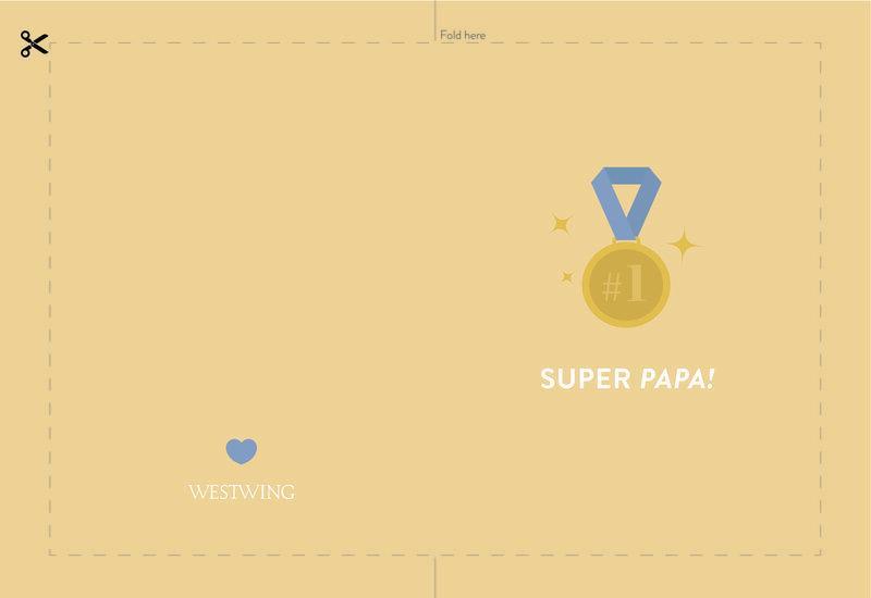 Westwing DIY vaderdagkaart: Super papa!