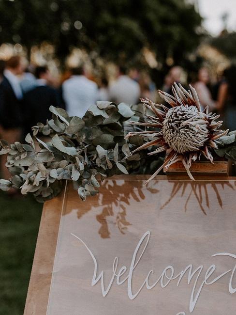 Bruiloft decoratie in de boho-stijl