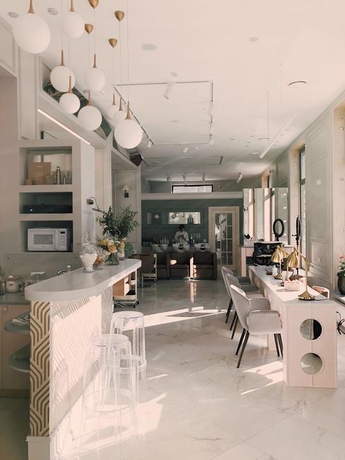 Modern interieur van het appartement