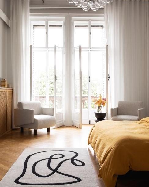 retro artsy slaapkamer