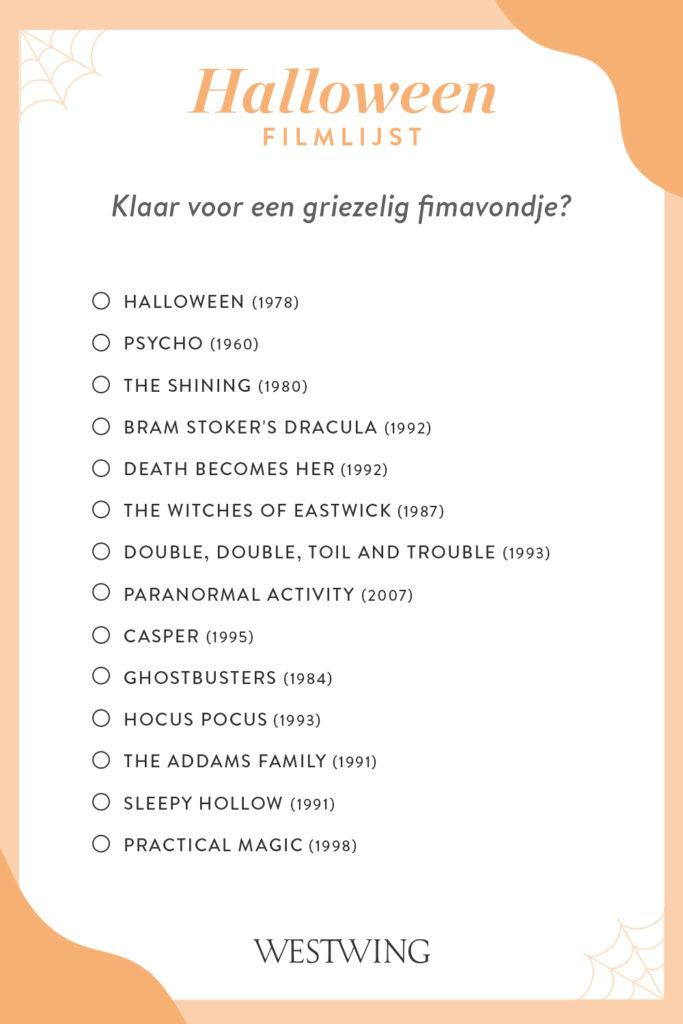 halloween filmlijst