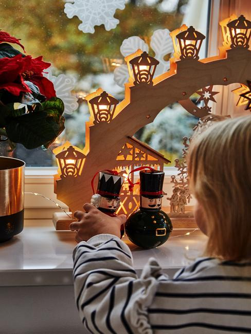 Kerstdecoratie raam