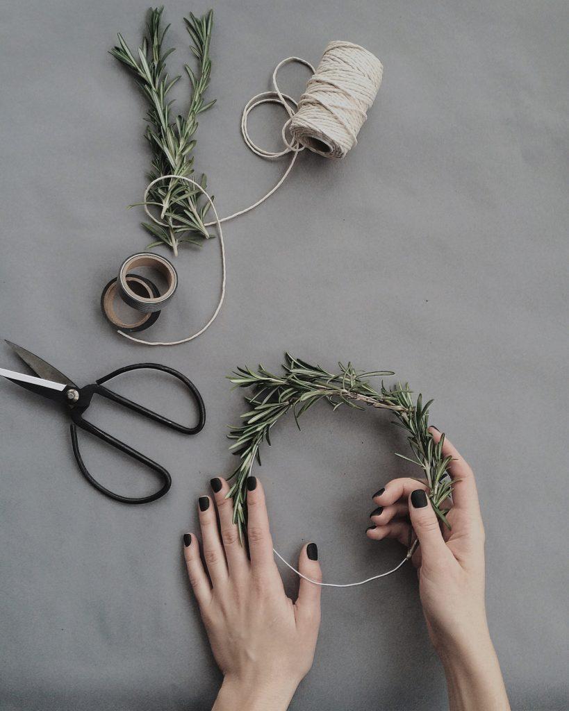DIY kerstdecoratie krans