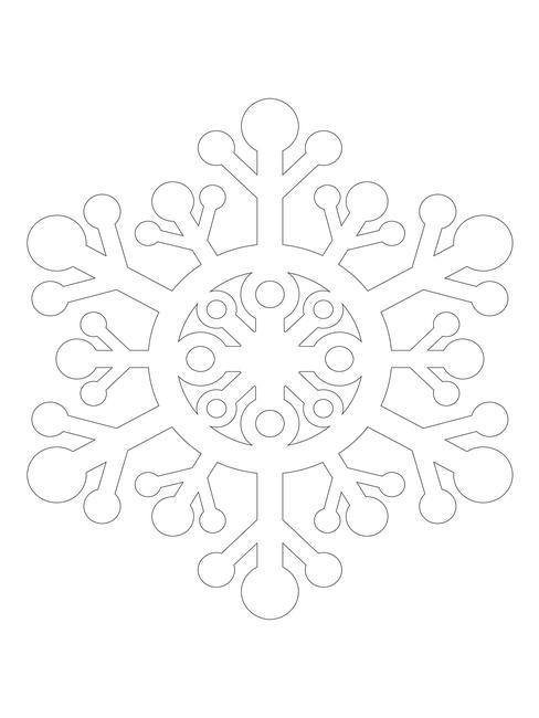 sneeuwvlokje kerst DIY