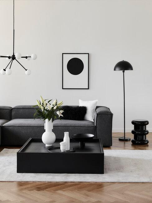 Coco Chanel woonkamer inrichting zwart wit