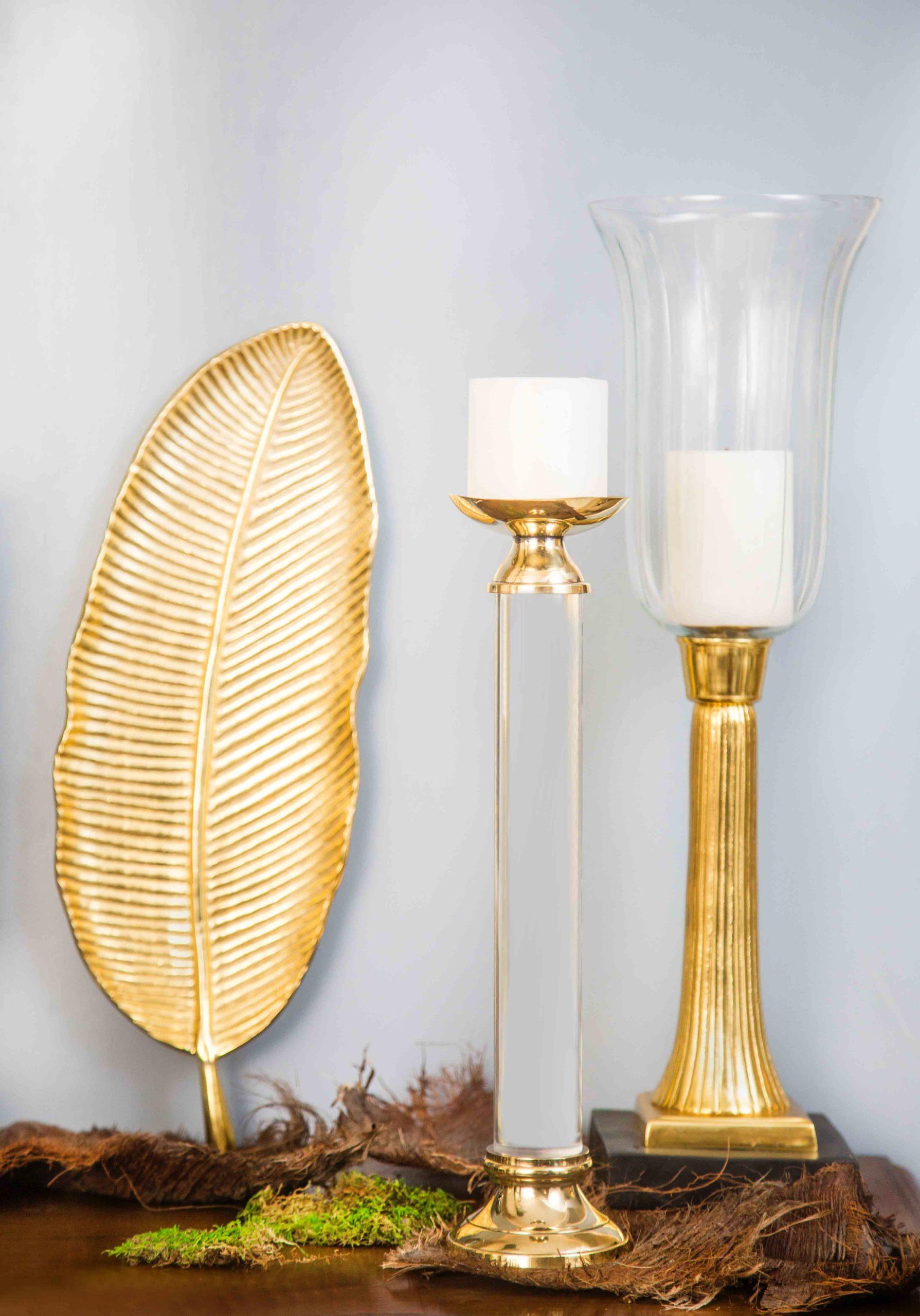 Gouden decoratieve objecten