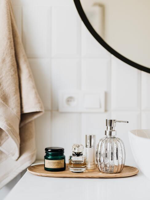 Badkamer met bamboe accessoires