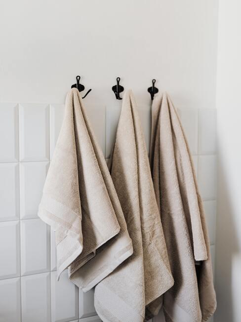 Handdoeken in beige