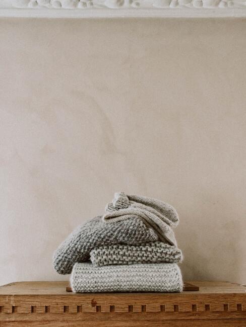 Handdoeken in beige en grijs